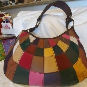 Patchwork leather and suede Lucky Brand Hobo